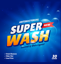 Detergent advertising concept product design vector