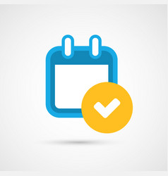 Calendar icon - check mark vector