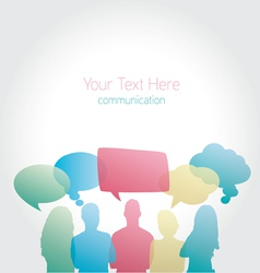 People communicating social media vector image