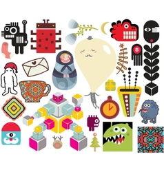 Mix of different images vol64 vector