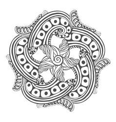 Mandala for coloring book pages ornament pattern vector