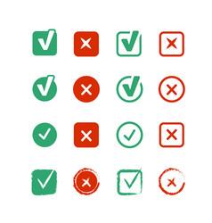 Checkboxes set vector