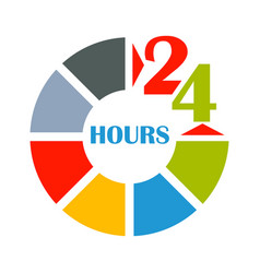 24 hours open color vector image vector image