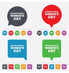 8 march international womens day sign icon vector