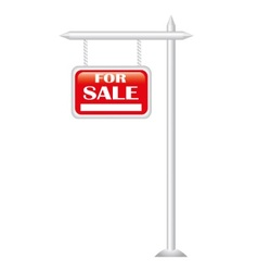 Red sign sale vector