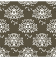 White paisley seamless pattern vector