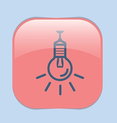 Lightbulb character ideas incandescent lamp icon vector