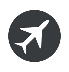 Monochrome round plane icon vector
