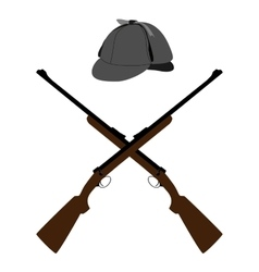 Hat and rifle vector
