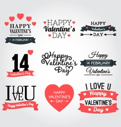 Happy valentine day banner collection vector