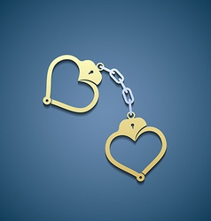 Icon handcuffs in the form of heart vector