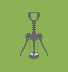 Wine bottle corkscrew icon vector