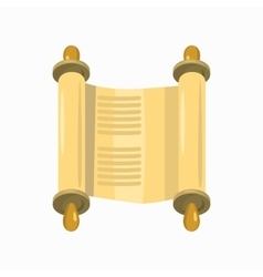 Torah scroll icon cartoon style vector