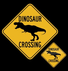 DINOSAUR CROSSING vector image