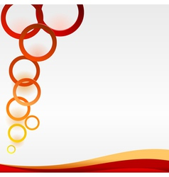Abstract colored rings vector image vector image