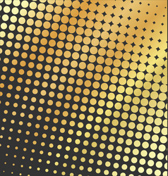 Abstract dotted golden background halftone vector