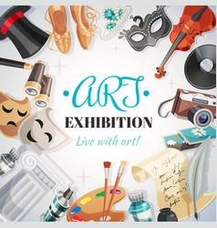 art exhibition vector image vector image