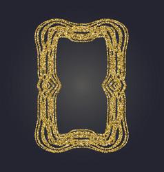 Art nouveau gold glitter frame art deco border vector