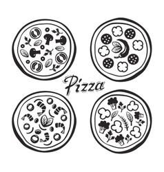 black pizza vector image vector image