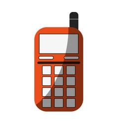 Blank screen cellphone icon image vector
