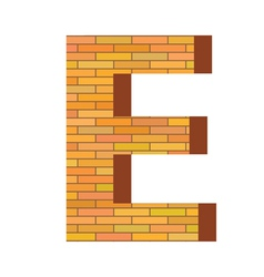 brick letter E vector image vector image