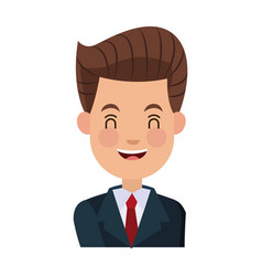 businessman character cheerful portrait people vector image