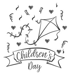 children day hand draw design collection vector image vector image