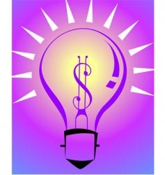 dollar bulb vector image vector image