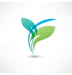 Eco leafs blue and green vector image vector image