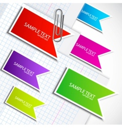 flag labels set vector image vector image