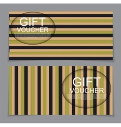 Gift voucher template with abstract background vector