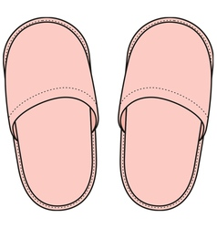 Home slippers vector image