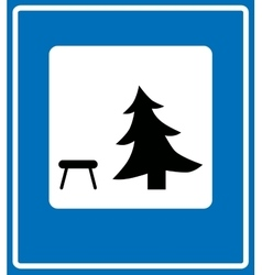 Icon showing a picnic table vector