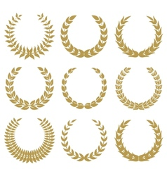 laurel wreaths 1 vector image