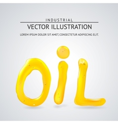 Oil liquid text On a white background vector image
