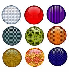 op art buttons vector image