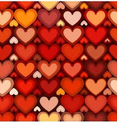 Red mottled hearts seamless pattern vector image vector image