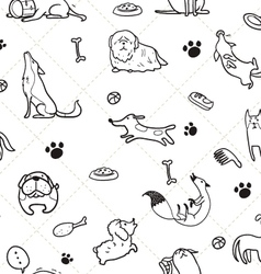 seamless Dogs pattern C vector image