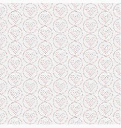 seamless heart pattern hand drawn design vector image