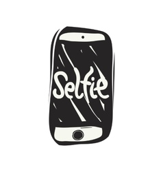 Taking a selfie photo vector