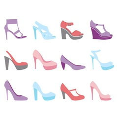 Summer shoes fashion vector image