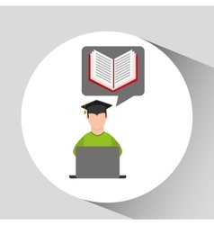 Character graduation e-learning online education vector
