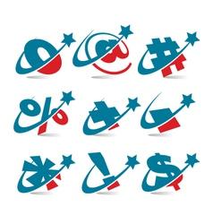 Swoosh Patriotic Logo Symbols vector image