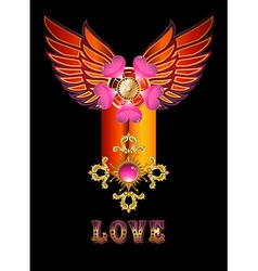 Forever love vector
