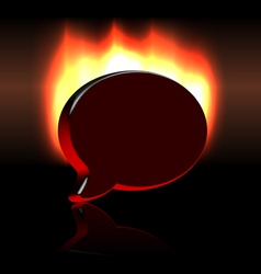 Conference balloon symbol sign over fire vector image