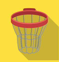 Basketball hoopbasketball single icon in flat vector
