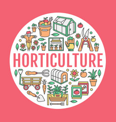 Gardening planting horticulture banner with vector