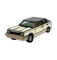 Car coupe city transport vehicle icon vector