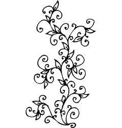 Refined floral vignette cv vector