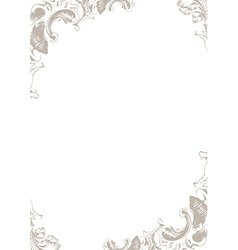 Vintage ornament framework decor isolated vector